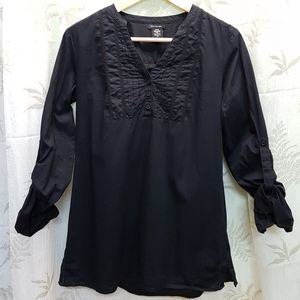 Calvin Klein Adjustable Sleeve Blouse